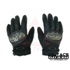 Deltacs Carbon Knuckle Full Finger Combat Gloves - Black(M-XL)
